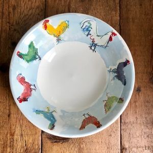 """TIFFANY & Co. """"Rooster"""" Serving Bowl"""